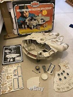 Vintage Star Wars Rotj 1979 Kenner Millenium Falcon, Travailler Électrique