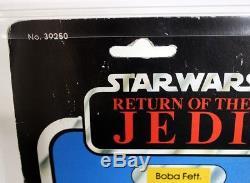 Vintage Star Wars Rotj Boba Fett De Kenner 77 Retour-a Afa 50 Y-vg # 12221380