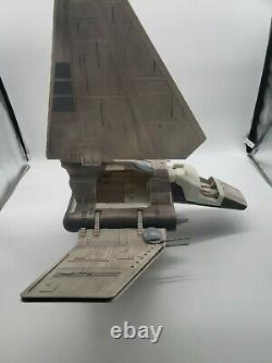 Vintage Star Wars Rotj Imperial Shuttle Kenner 1984 Panneau Latéral Manquant
