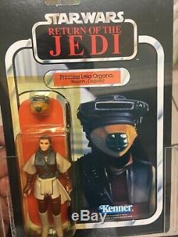 Vintage Star Wars Rotj Princesse Leia Boushh Disguise 1983 Afa 85 Rare Toy Moc