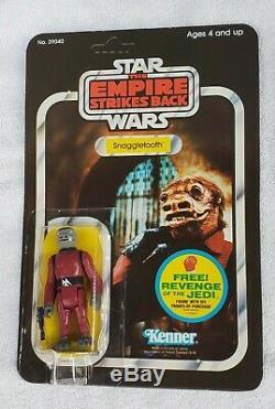 Vintage Star Wars Snaggletooth Afa Unpunched. Grèves Empire Retour 48 Retour