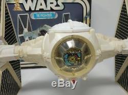 Vintage Star Wars Tie Fighter Original Blanc De 1977 En Boîte! Agréable