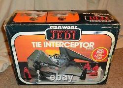 Vintage Star Wars Tie Interceptor Imperial Starfighter Light Works In Box Look