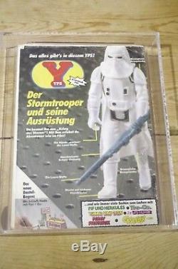 Vintage Star Wars Yps Hoth Stormtrooper Snowtrooper Ukg Avec Comic Pas Afa Cas