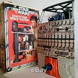 Vintage Station Spatiale 1978 Star Wars Death Star Playset Avec La Boîte Tonnes De Photos