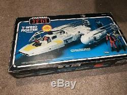 Vintage Unused 1980's Star Wars Kenner Rotj Y Wing Fighter Avec Orig. Boîte