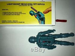 Vintage Wars Étoiles Boba Fett Reproduction Rocket Firing Prototype Avec La Boîte