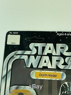 Vintage Wars Étoiles Darth Vader Moc 12 Back-a Réf Pied De Page Unpunched (kenner, 1977)