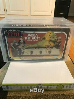 Vintage Wars Étoiles Rotj Jabba Playset Misb Kenner Afa 80