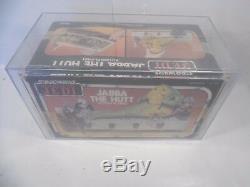 Vintage Wars Étoiles Rotj Jabba Playset Scellé Kenner Afa Graded 70 Ex +