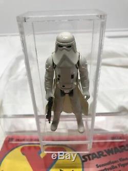 Vintage Wars Étoiles Yps Allemand Hoth Snowtrooper Avec Comic En Acrylic Case Regard