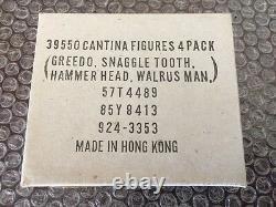 Vintage Wars Kenner Étoiles Cantina Mailer 4 Pack Snaggletooth-greedo-hammer-walrus