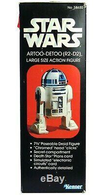 Vintage Wars Kenner Étoiles Grand 12 Artoo-detoo R2-d2 Mint Scellée Boîte Misb Afa IL