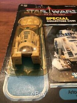 Vintage Wars R2-d2 Étoiles Potf 1984 Pop-up Lightsaber Moc Rare 92 Retour 17 Derniers