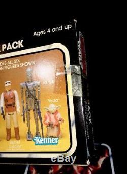 Vintage-star Wars-1981-esb-6 Pack-boîte Jaune-kenner Baggies-rare-misb-afa-c / 85