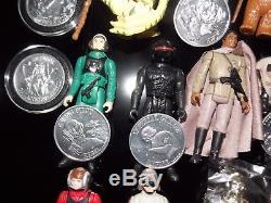 $ Vintage197719841985starwarspotfyakfaceev9d9popupsaberr2d2coinlot