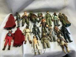 Vtg Années 1970-80 Star Wars Action Figures Collection Armes Et Accessoires Lot