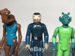 Vtg Star Wars Cantina Lot Bleu Snaggletooth, Hammer Head, Greedo No Repro