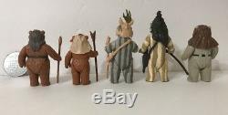 Wars Vintage 1983-1985 Étoiles Rotj Potf Ewok Lot De 5 Romba Paploo Teebo Originale