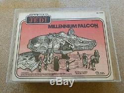Wars Vintage 1983 Étoiles Rotj Kenner Millennium Falcon Ukg Graded 75% __gvirt_np_nn_nnps<__
