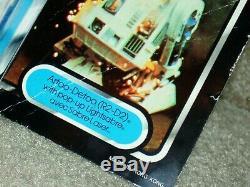 Wars Vintage 1985 Étoiles R2-d2 Pop-up Sabre Tri-logo Carte Retour Moc Clr Bub Afa It