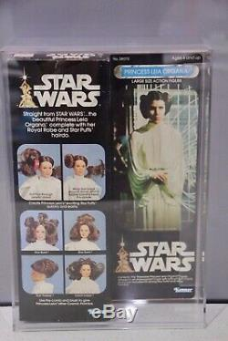Wars Vintage Kenner Star Princess Leia Organa Doll Mib Mis 12 Présentoir Moc