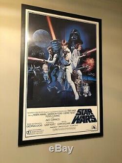 Wars Vintage Originale Star Movie Poster 1977 Ptw531 Lucasfilm Portal Encadrée