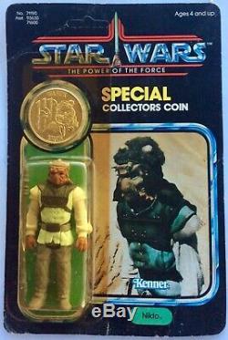 Wars Vintage Star Power De La Force Nikto Moc Unp. 1984 Australian Toltoys
